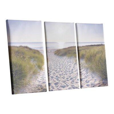Graham & Brown Beach Walk 3 Piece Photographic Print on Canvas Set
