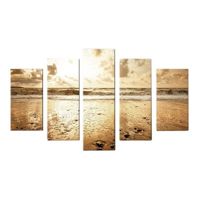Graham & Brown Sunrise Beach 5 Piece Photographic Print on Canvas Set