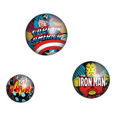 Graham & Brown 3 Piece Marvel Badges Wall Decor Set
