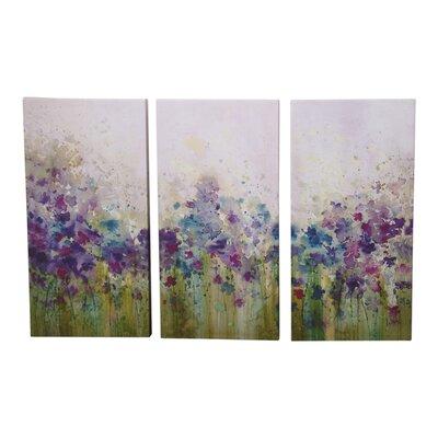 Graham & Brown Watercolour Meadow 3 Piece Art Print on Canvas Set