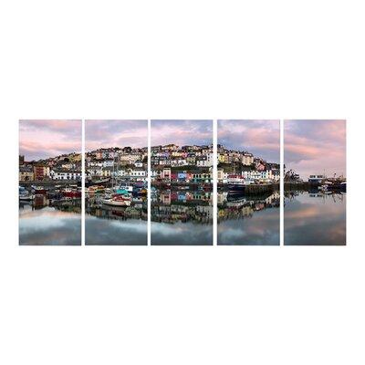 Graham & Brown Brixham Harbour 5 Piece Photographic Print on Canvas Set