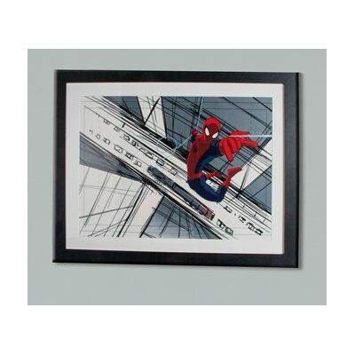 Graham & Brown Spider-Man Sketch Disney Framed Vintage Advertisement