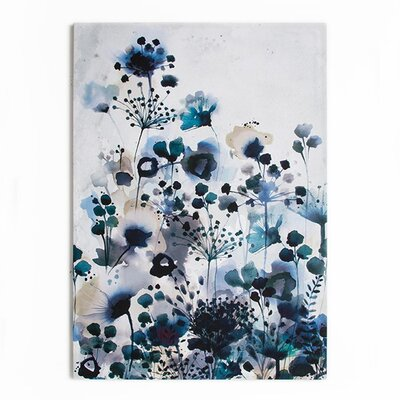 Graham & Brown Dreaming in Watercolour Moody Blue Art Print on Canvas
