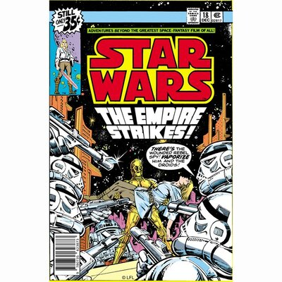 Graham & Brown Star Wars The Empire Strikes Comic Vintage Advertisement on Canvas