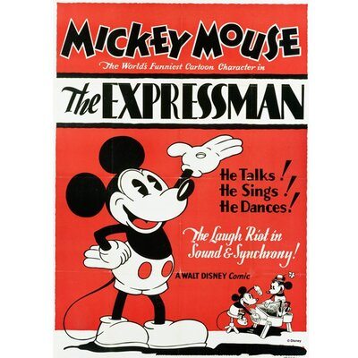 Graham & Brown Mickey Mouse Expressman Vintage Advertisement on Canvas