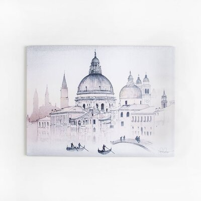 Graham & Brown Dreaming in Watercolour Venice View Art Print on Canvas