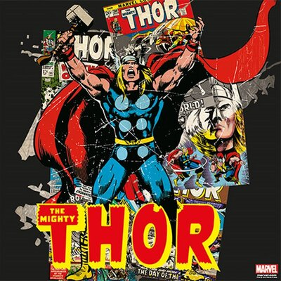 Graham & Brown Marvel The Mighty Thor Vintage Advertisement on Canvas