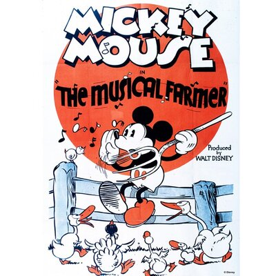 Graham & Brown Mickey Mouse Musical Farmer Vintage Advertisement on Canvas