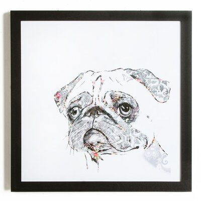 Graham & Brown Puppy Love Humphry the Pug Art Print on Canvas