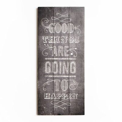 Graham & Brown Wooden Visions Good Things Typography Plaque