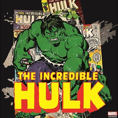 Graham & Brown Marvel The Incredible Hulk Vintage Advertisement on Canvas