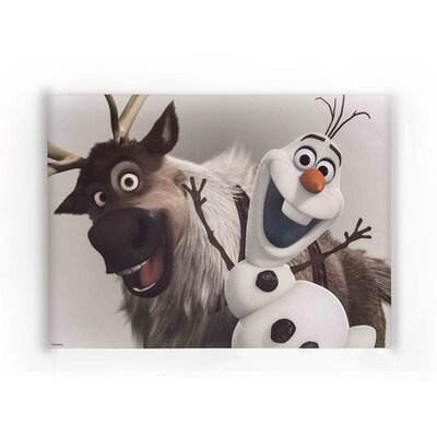 Graham & Brown Frozen Olaf and Sven Vintage Advertisement on Canvas