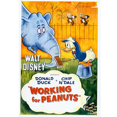 Graham & Brown Donald Duck Working for Peanuts Vintage Advertisement on Canvas