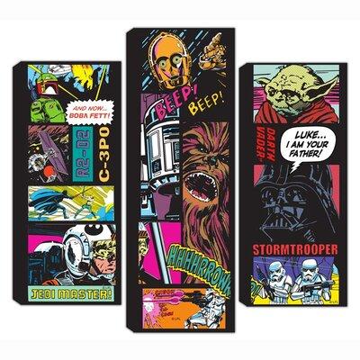 Graham & Brown Star Wars Comic Collage 3 Piece Vintage Advertisement on canvas Set