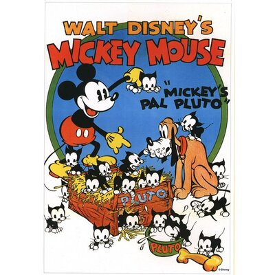 Graham & Brown Mickey Mouse Mickeys Pal Pluto Vintage Advertisement on Canvas