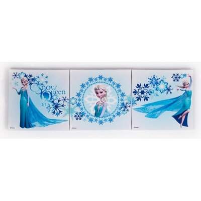 Graham & Brown Frozen Elsa 3 Piece Vintage Advertisement on Canvas Set