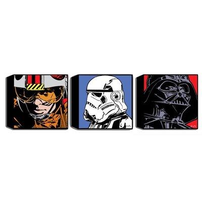 Graham & Brown Star Wars Comic 3 Piece Vintage Advertisement on Canvas Set