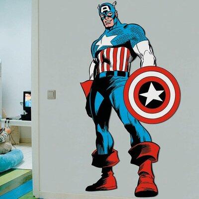 Graham & Brown Marvel Comics Life Size Captain America Wall Sticker