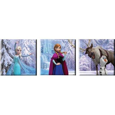 Graham & Brown Frozen 3 Piece Vintage Advertisement on Canvas Set