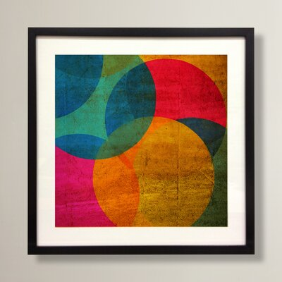 Graham & Brown Neon Circle Framed Graphic Art