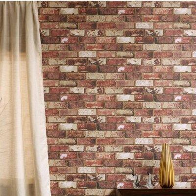 Borough Wharf Brick 10m L x 52cm W Roll Wallpaper