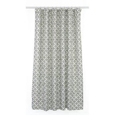 Madison Shower Curtain Set Color: Stone Beige Grey/White