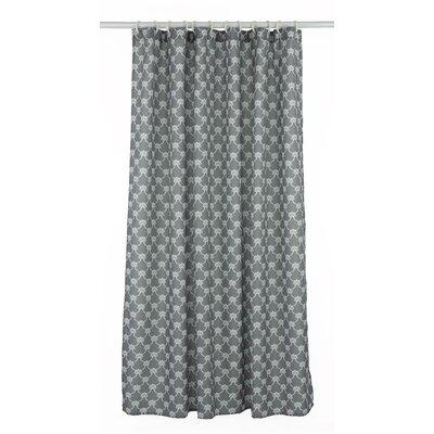 Manhattan Trellis Shower Curtain Set Color: Charcoal Gray/White