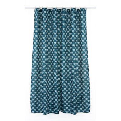 Manhattan Trellis Shower Curtain Set Color: Deep Ocean Blue/White