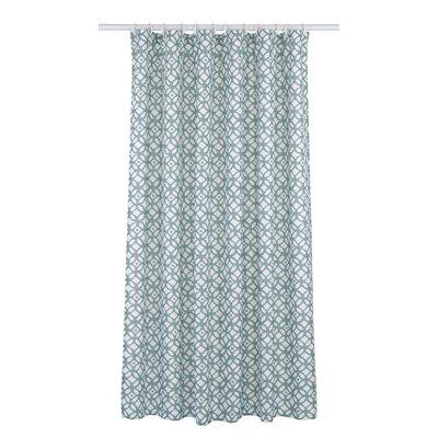 Madison Shower Curtain Set Color: Sea Blue/White