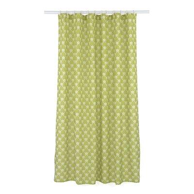 Manhattan Trellis Shower Curtain Set Color: Chartreuse Green/White