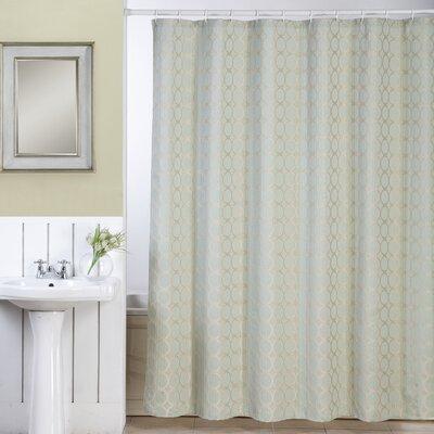 Orbits Shower Curtain Color: Aqua