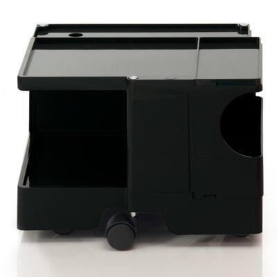B-LINE Joe Colombo Mobile Boby Trolley Printer Stand with Shelves