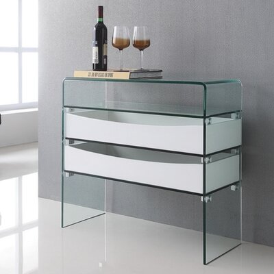 Ibiza Console Table Color: White
