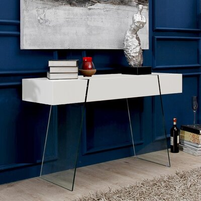 IL Vetro Cabana Console Table Color: White