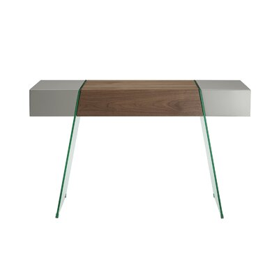 IL Vetro Cabana Console Table Color: Walnut / Gray