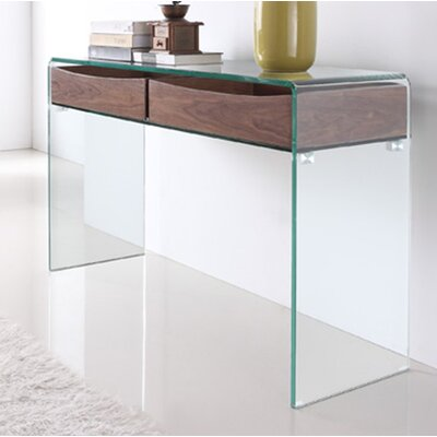 Ibiza Console Table Color: Walnut