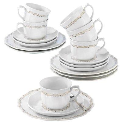 Seltmann Weiden Sonate 18-Piece Porcelain Coffee Set