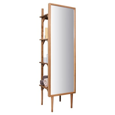 Gallery Henley Dressing Mirror with Shelving Unit
