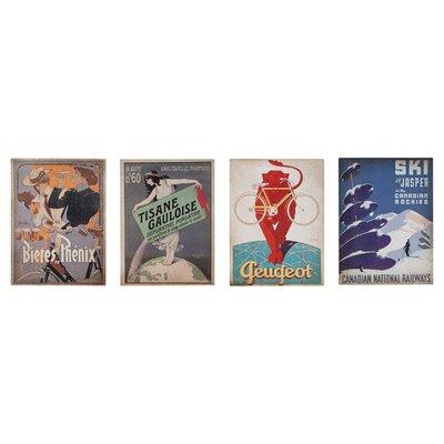 Gallery Advertising 4 Piece Vintage Advertisement Plaque Set