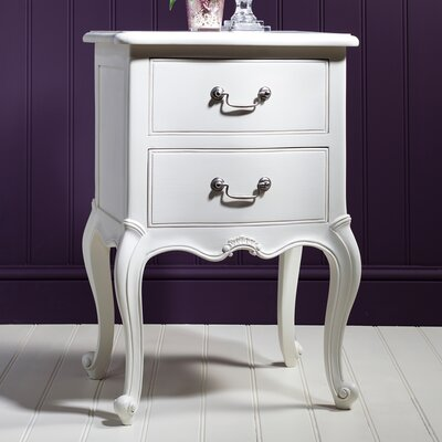 Gallery Parisian House 2 Drawer Bedside Table