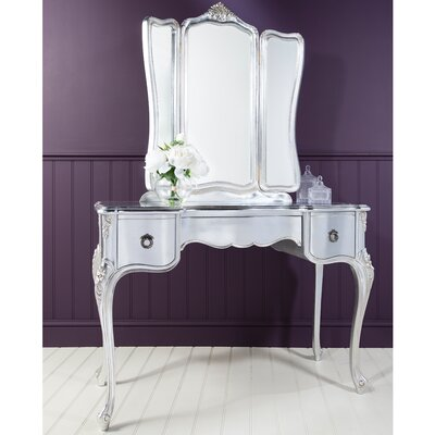 Gallery Parisian House Dressing Table with Mirror