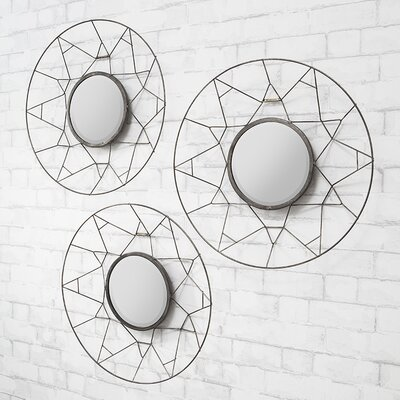 Gallery Tripoli 3 Piece Mirror Set