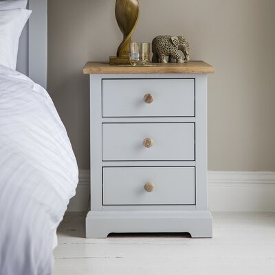 Gallery Marlow 3 Drawer Bedside Table