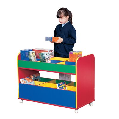 Liberty House Toys Primary Coloured 67.5cm Book Cart