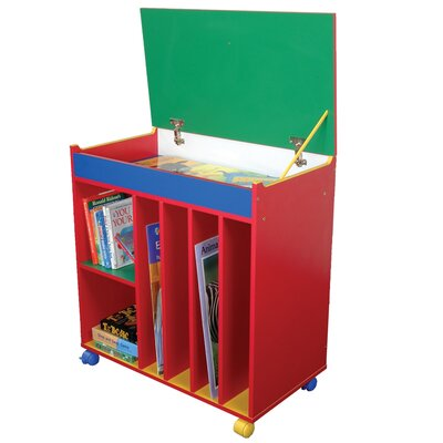 Liberty House Toys Primary Coloured 81.5cm Book Cart