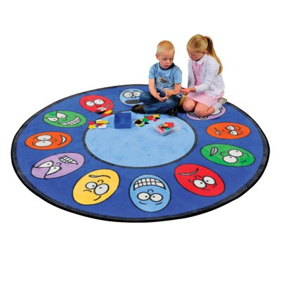 Liberty House Toys Expressions Blue Area Rug