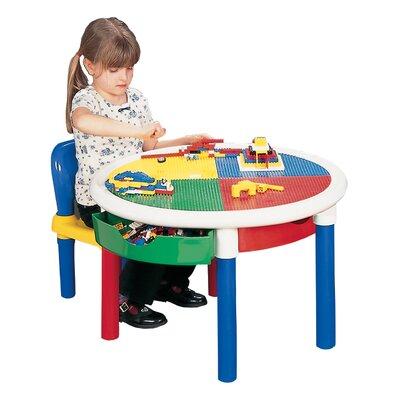 Liberty House Toys Children's Round Lego Table