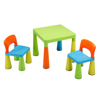 Liberty House Toys Children's 3 Piece Square Table and Chair Set