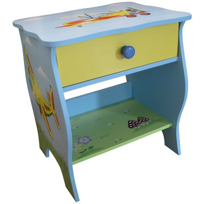 Liberty House Toys Transport 1 Drawer Bedside Table