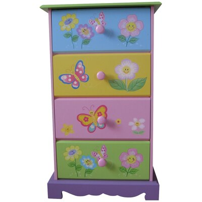 Liberty House Toys Butterfly Garden 4 Drawer Chest of Drawers